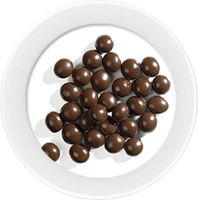 dark chocolate pearls